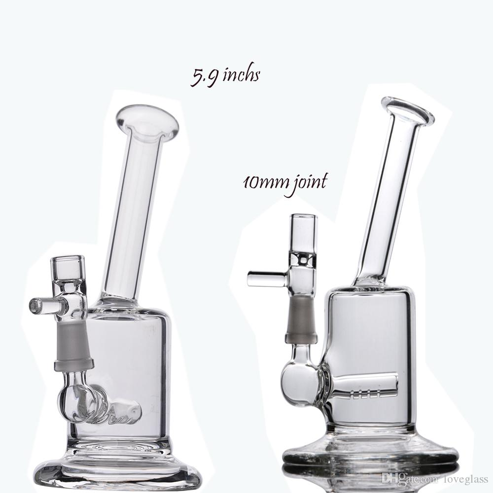 5.9 inchs Small Bong Waterpipes Dab Rigs Oil Bong With 10mm Nail Heady Glass Water Bongs Chicha