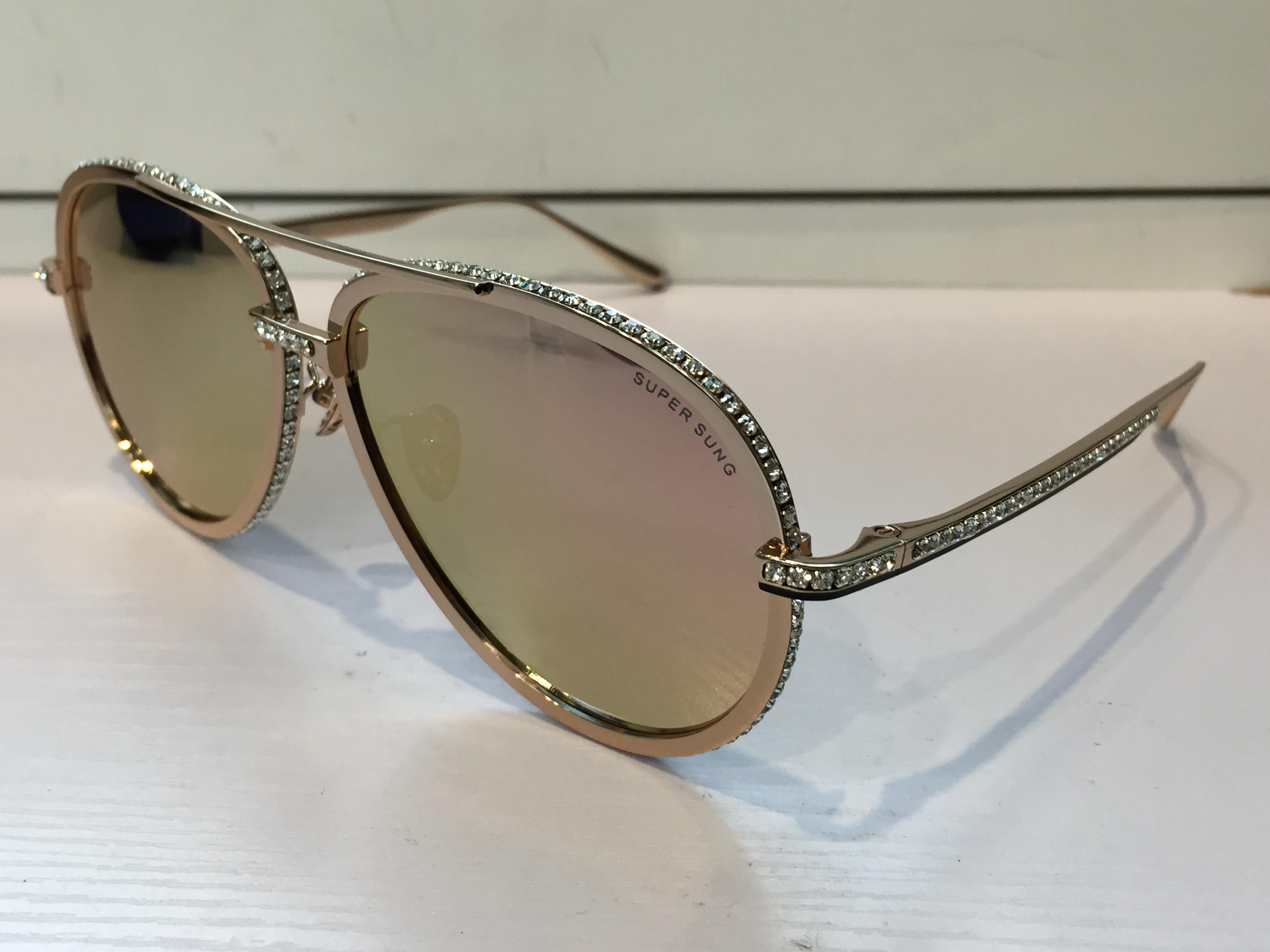Moda de luxo óculos de sol Frete Grátis Itália SUPER SUNG óculos de sol de Alta qualidade titanium liga óculos de sol das mulheres designer de proteção uv400