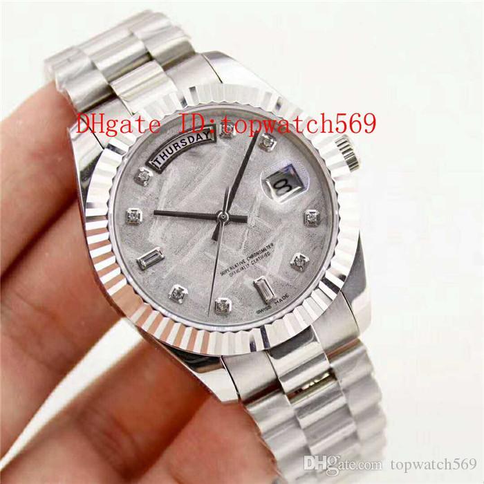 Nuevo reloj para hombre reloj de pulsera 904L de acero inoxidable reloj suizo 3255 mecánico automático 28800 vph Indicación de la fecha del día de zafiro resistente al agua