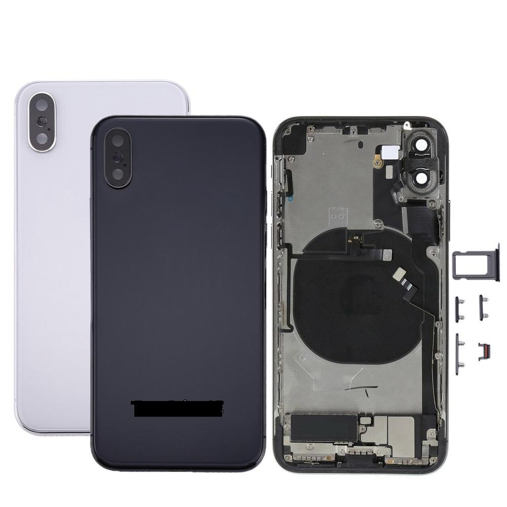 For iPhone X Back Cover Battery Door Back Housing Rear Cover Assembly Battery Housing For iPhone X With Flex Cable Replacement