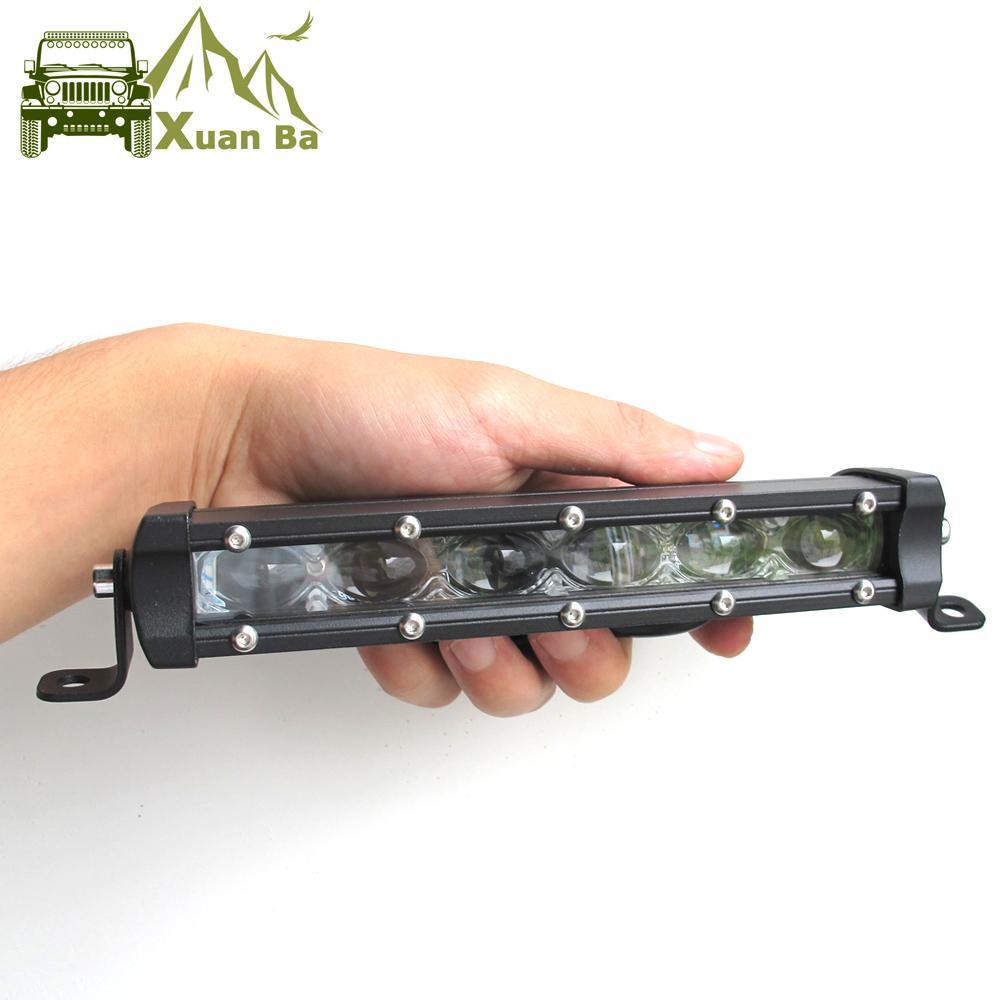 """Xuanba Super Slim 6D Lens 8 """" 14 """" 20 """" 26 """" 32 Inch Led Bar Offroad Light For Auto Car 12V 24V ATV 4x4 Off road Work Lights Driving Lights"""