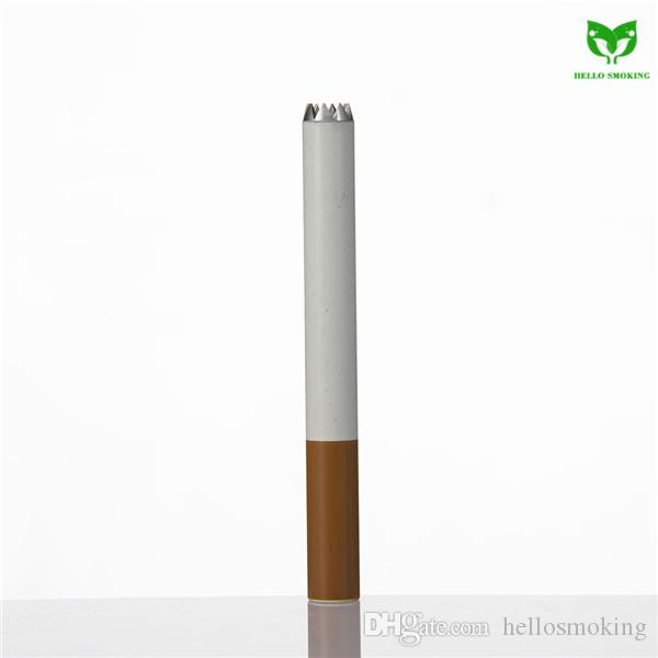 Aluminum Cigaratte Hitter 80mm Digger w/o Sparkle Filter Portable Cigarette Smoking Pipe Herb Tobacco Pipe 074