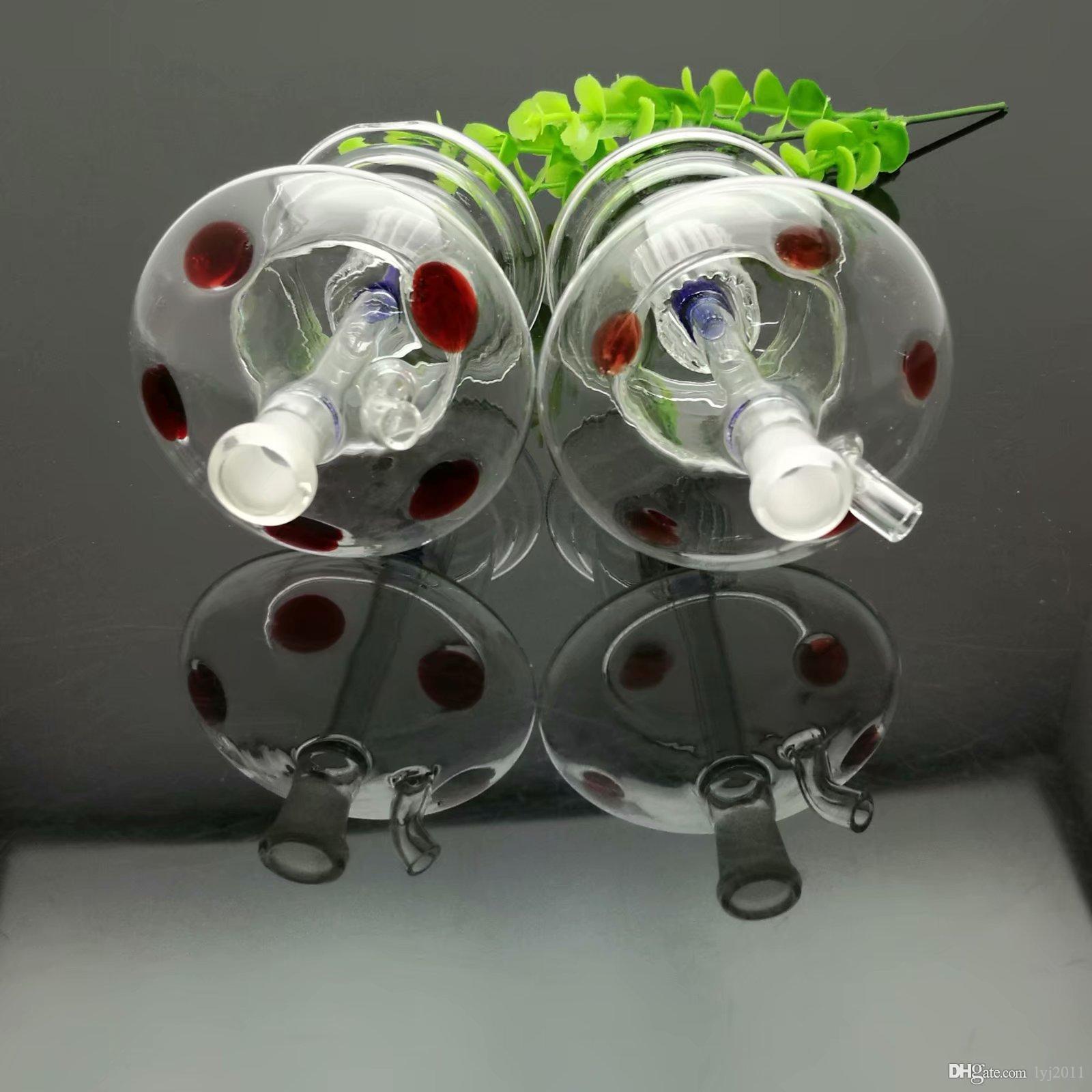 Горячая продажа цвет пунктирных грибного стекла сигарета чайник Оптовые Трубы из стекла для воды Табак Аксессуары Стекло Ash Catcher