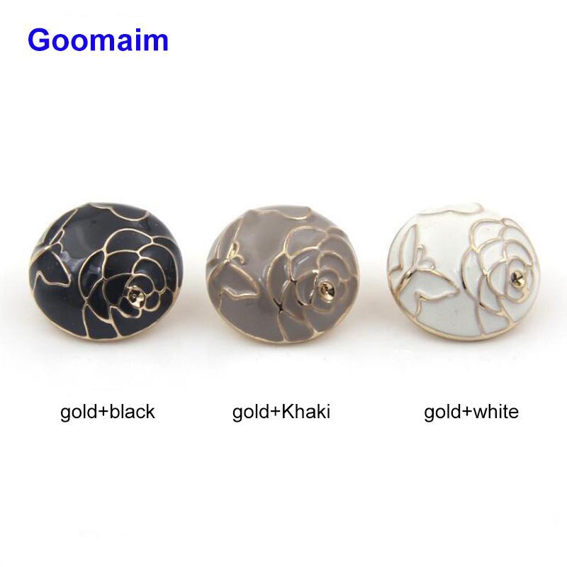 50 unidades / lote 25 da classe mm botões de metal petróleo ponto de ouro sobretudo costura jean haste botões para senhoras camisola casaco grau botões para roupas