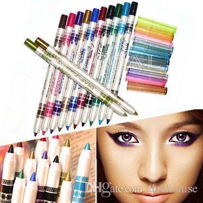 12 색 반짝이 아이 라이너 연필 연필 펜 화장품 메이크업 세트 믹스 색상 미용 도구
