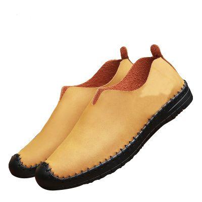 calzados informales de cuero barata de Corea del tamaño de jóvenes 2019 nueva tendencia de otoño bajo-top de cordones para hombre zapatillas de deporte para hombre suaves entrenadores 40-45