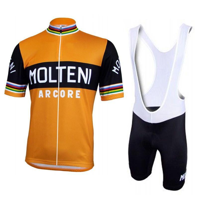 Keyfi seçim giyim bisiklet aşınma ropa ciclismo jel pedi sürme Erkek turuncu siyah bisiklet forması Bisiklet Setleri