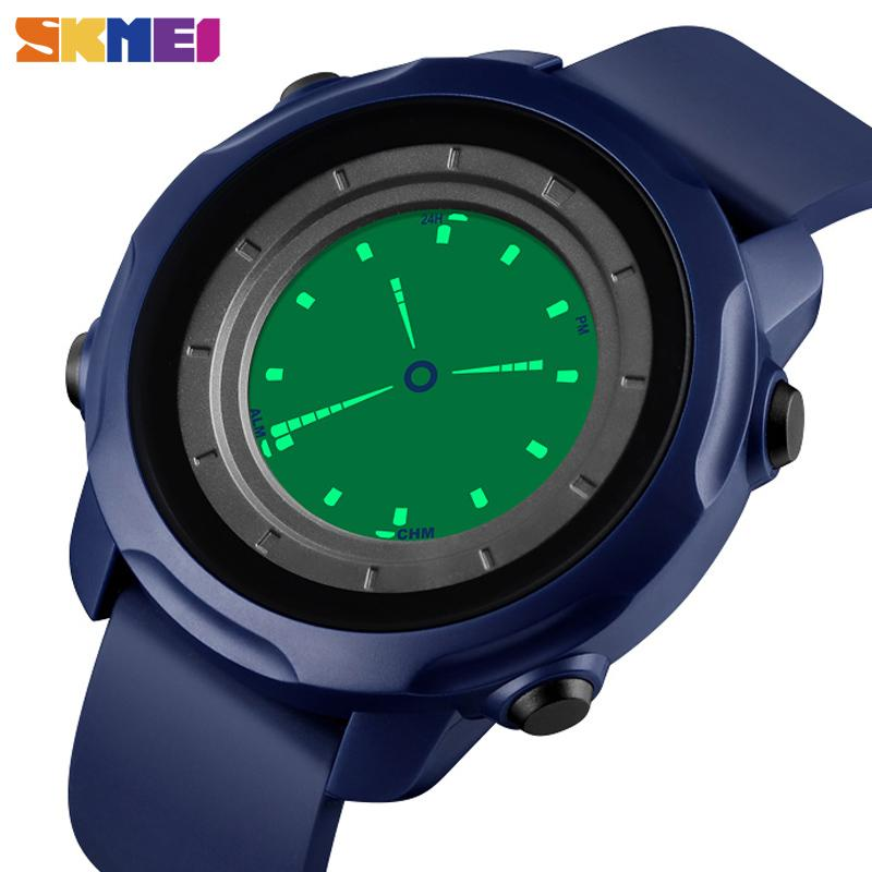 SKMEI 1571 спортивные фитнес часы Мужские водонепроницаемые цифровые наручные часы мужские 2Time Chrono электронные часы Creative reloj hombre