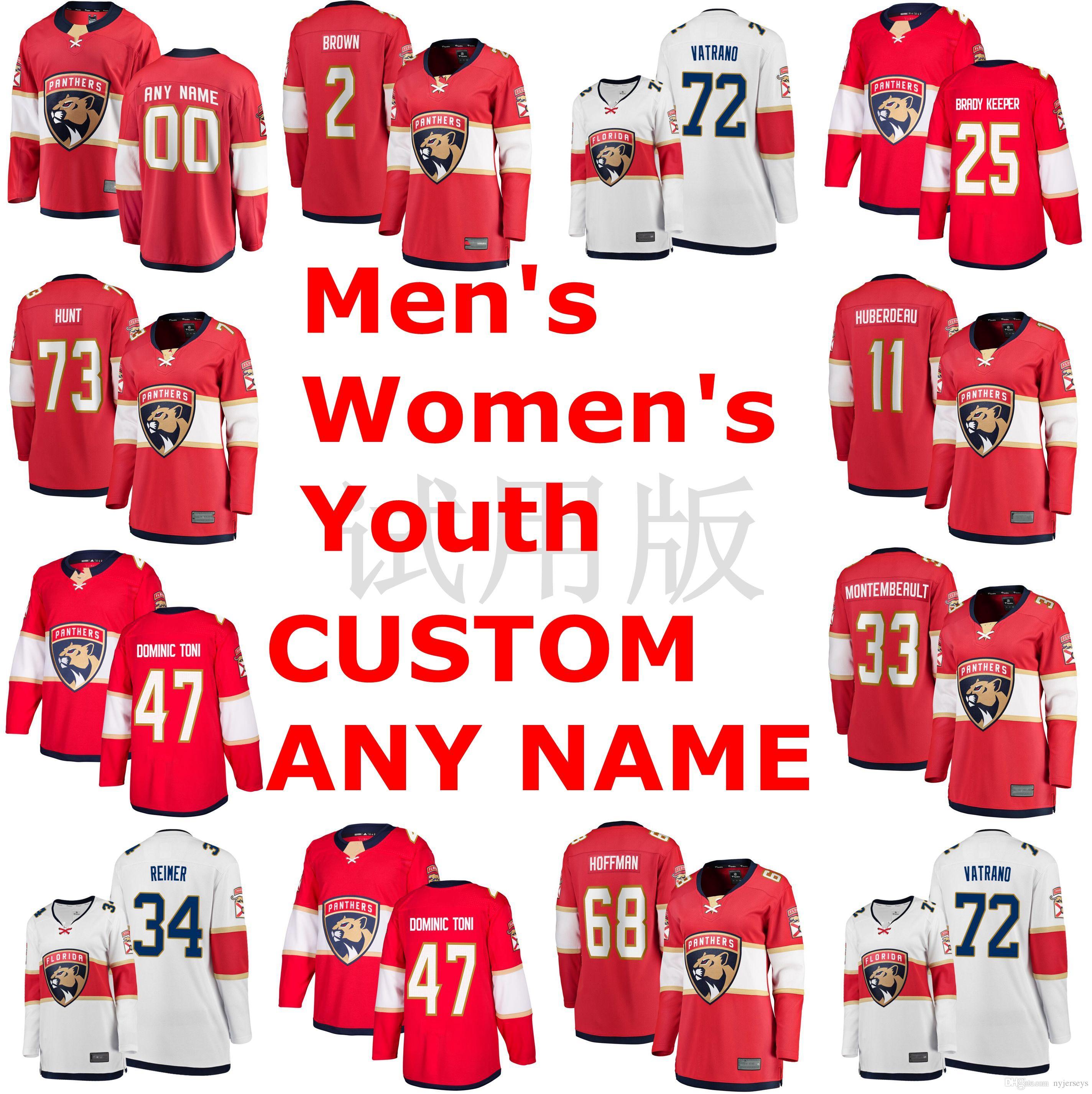 Florida Panthers Jerseys Josh Brown Jersey Frank Vatrano Dominic Toninato Dominic Toninato Jayce Hawryluk Red White Hockey Jerseys Custom St