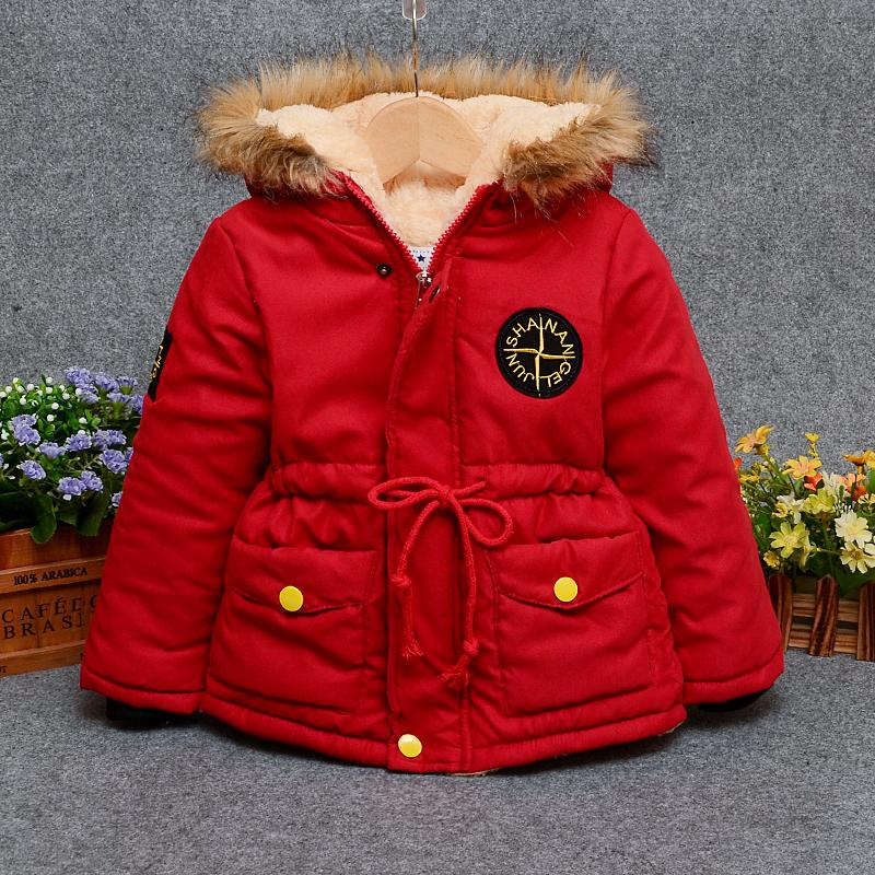 2018 vêtements de dessus pour bébés bébés filles coton Manteaux à capuche Veste hiver vêtements d'hiver pour enfants Filles et garçons bas Parkas