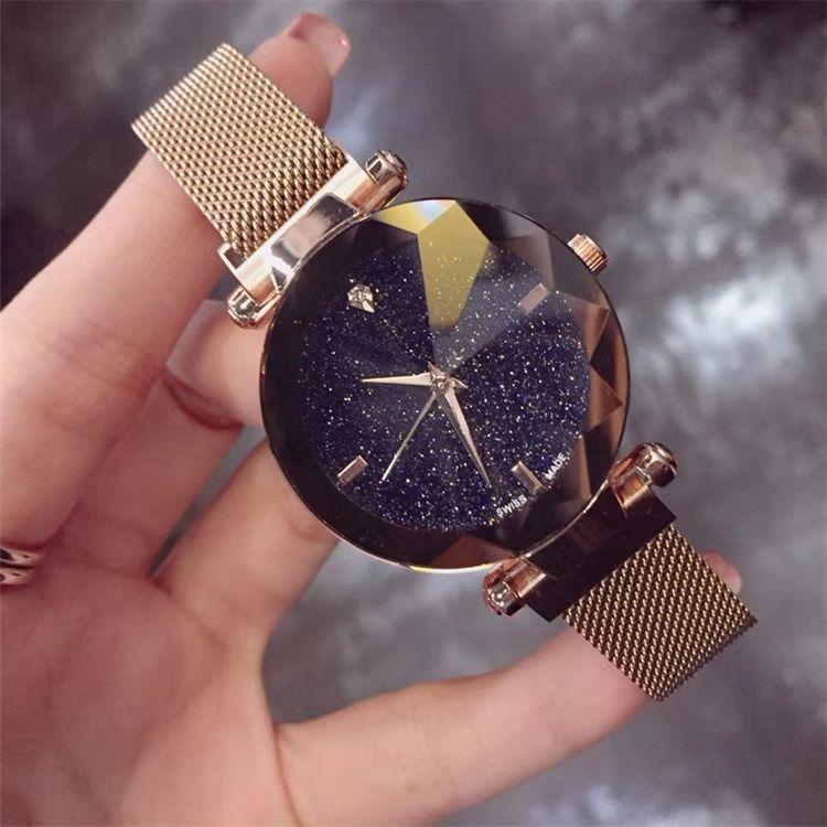 Высочайшее Качество Марка Женские Часы Мода Luxury Steel Известный Дизайн Relojes De Marca Mujer Леди Платье Часы Магнит с пряжкой Фиолетовый Цвет