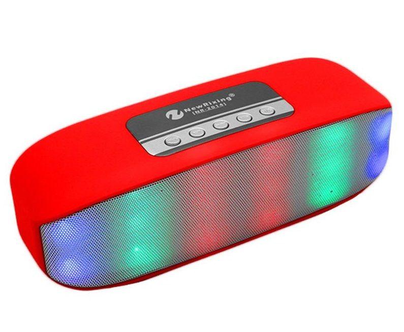NR-2014 Mini Wireless Bluetooth Colorful Lamp Pulse LED Light Flash Speaker Support USB TF FM Function VS V318 BT808L XL Pill S10 X3 BT808NL