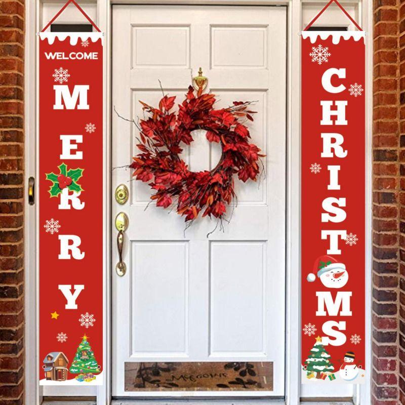 Decorazione per appendere la porta di buon Natale per decorazioni esterne per interni