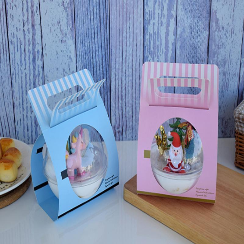 Plástico redondo redondo mousse taza caja de pastel bola de Navidad caja de regalo de cumpleaños embalaje Hermoso aspecto vale la pena elegir