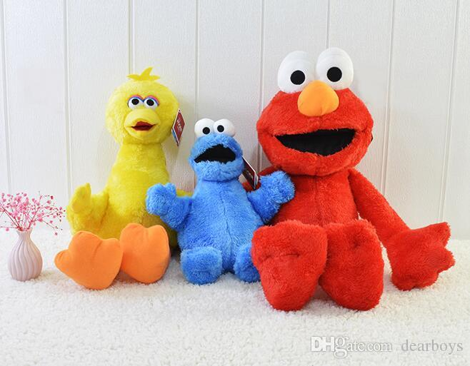 3 styles 45cm Sesame Street Elmo Plush Toys Soft Stuffed Doll Red Animal Stuffed Toys christmas Gifts For Kids toys