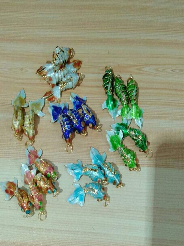 Vivid Sway маленькая эмаль милая золотая рыбка DIY подвески для ювелирных украшений выводы изготовления ювелирных изделий Handmade Cloisnne рыба подвески браслеты ожерелье серьги аксессуары
