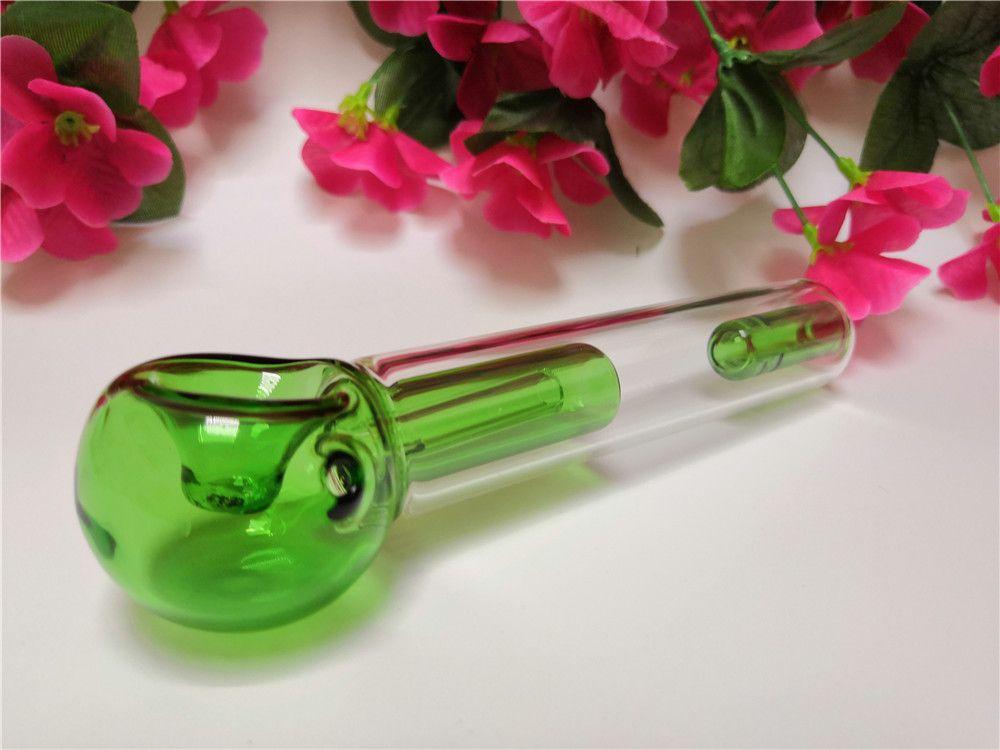 Grünes Glas Rohr Recycler Tupfen Rig Dickes Rauchen Shisha Glas Bong Günstige Glas Wasser Bongs Kostenloser Versand