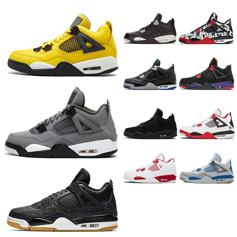 4 4s Herren-Basketball-Schuhe FIBA WHAT THE grau Silt Red Cooler Was The Singles Day W Sneakers Sportschuhe Größe gezüchtet 7-13