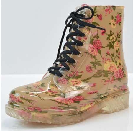 Kadın Yağmur Çizmeleri Su Geçirmez Bahar Sonbahar Ayakkabı Yağmur Çizme Kadın Ayak Bileği Çizmeler Antiskid Lastik Çizme WSF02