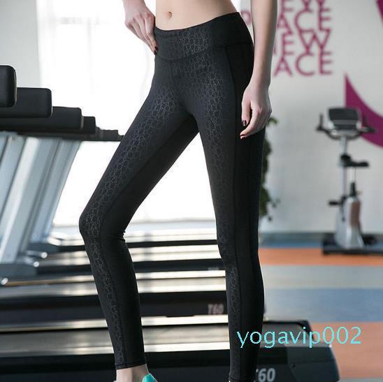Mujeres de la yoga de los pantalones de cintura alta aptitud de compresión Medias gimnasio de fitness Correr legging delgado 2016 usan nueva llegada Deportes Para Yoga