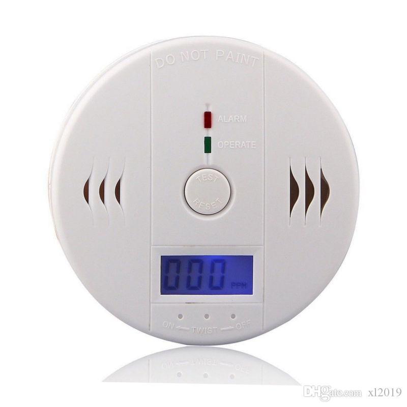 White CO Carbon Monoxide Smoke Sensor Gas Leak Warning Alarm High Sensitive LCD Detector