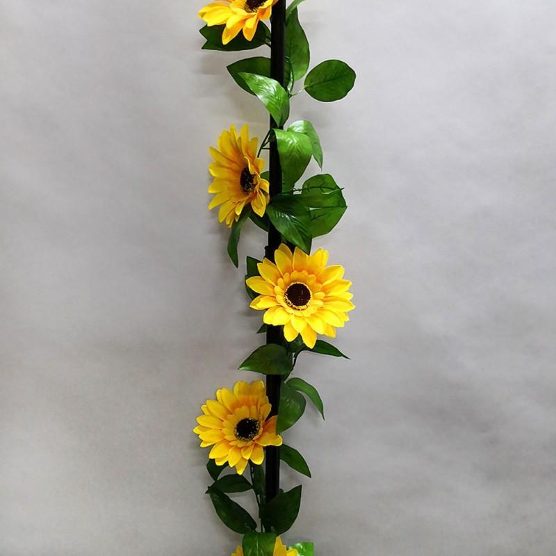 Girasol Flores Vid Flores artificiales Al aire libre Jardín Habitación Techo Decoración Telas no tejidas Decoración falsa del hogar