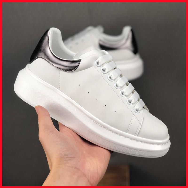 New Brand Luxury Designer MQ Shoes Women Men 3M Reflective Mcqueens Fashion Sneakers Thick Bottom White Black blue silver sale
