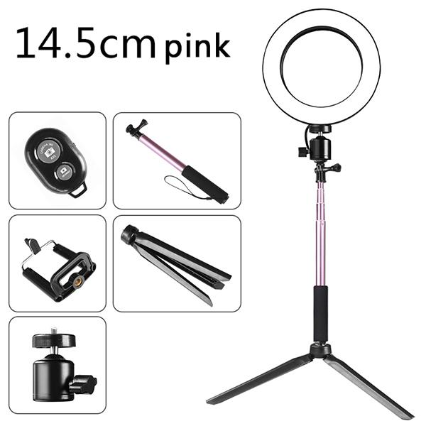 Photography Dimmable LED Selfie Ring Light YouTube Video Live 3500-5500k Photo Studio Light with Phone Holder USB Plug Tripod Color : G