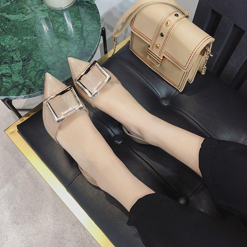 Bayan Ayakkabı İlkbahar 2019 Gelgit Ucu Hollow Ayakkabı