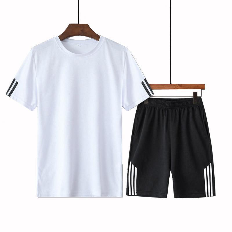 Moda Set Homens Roupa 2020 Verão New 2pc Treino curto camisola + Shorts Define Praia Mens camisas ocasionais sportswears