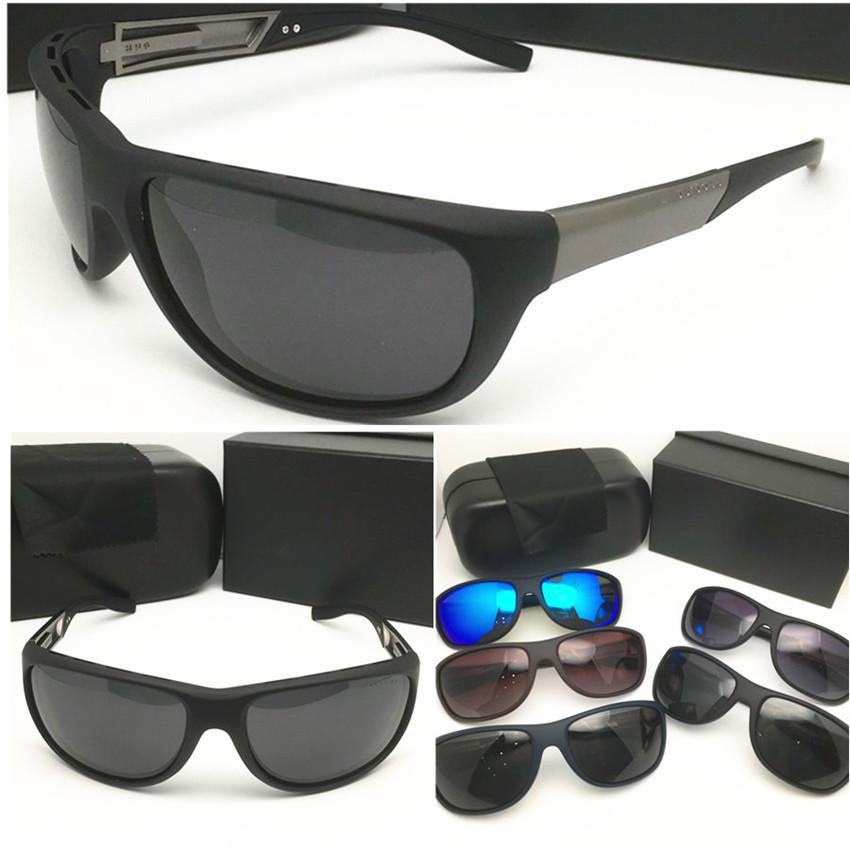 الأزياء الفاخرة مصمم حملق النظارات الشمسية العلامة التجارية النظارات الشمسية الكلاسيكية الرجال الاستقطاب حماية من الأشعة فوق نظارات رياضة ركوب الخيل في الهواء الطلق نظارات شمسية 0606