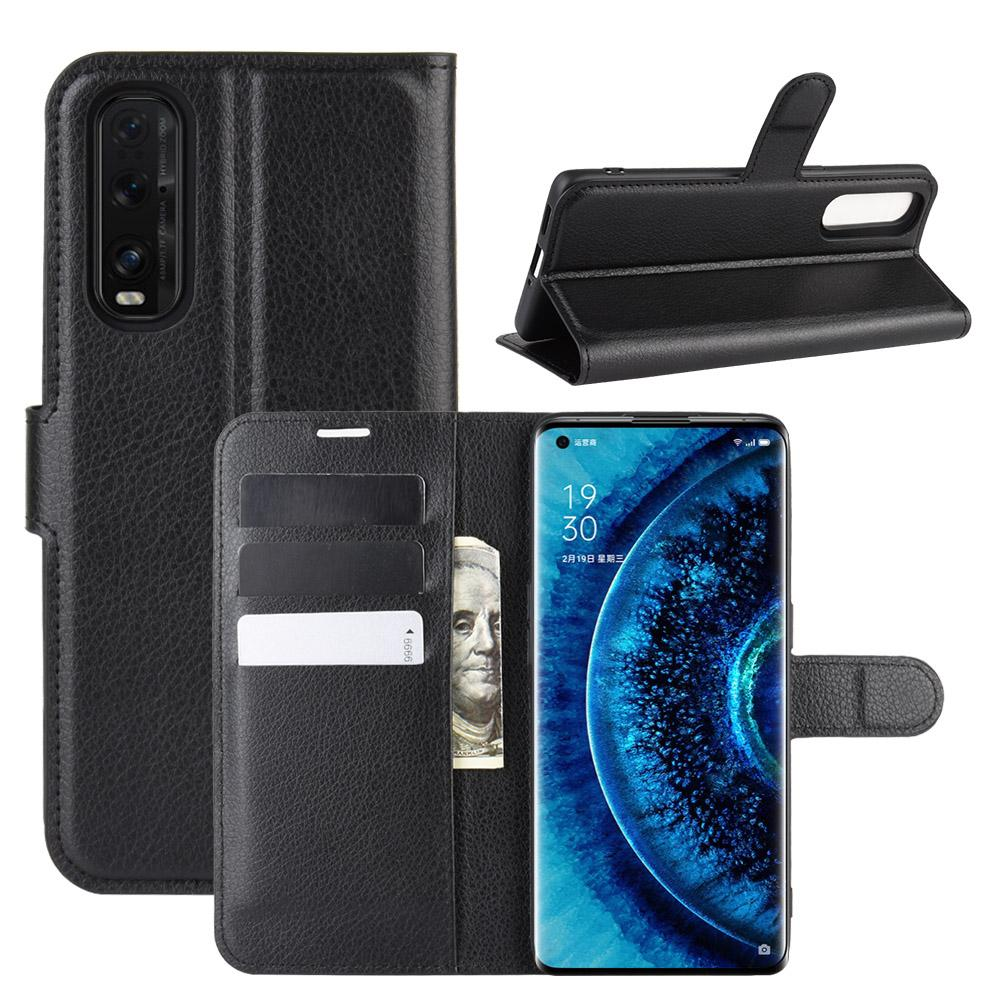 phone leather cases Lychee Wallet PU capa case For OPPO Realme 6 Find X2 Reno 3 A91 F15 2F 2Z ace A8
