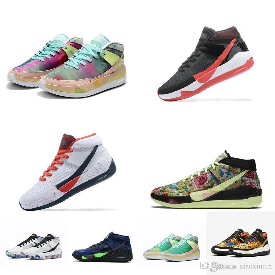 Дешевые мужские кд 13 баскетбол обувь 2K20 мульти синий зеленый желтый США выведена черный красный Пасха Новый Кевин Дюрант ХІІІ 13С кроссовки теннис с коробкой