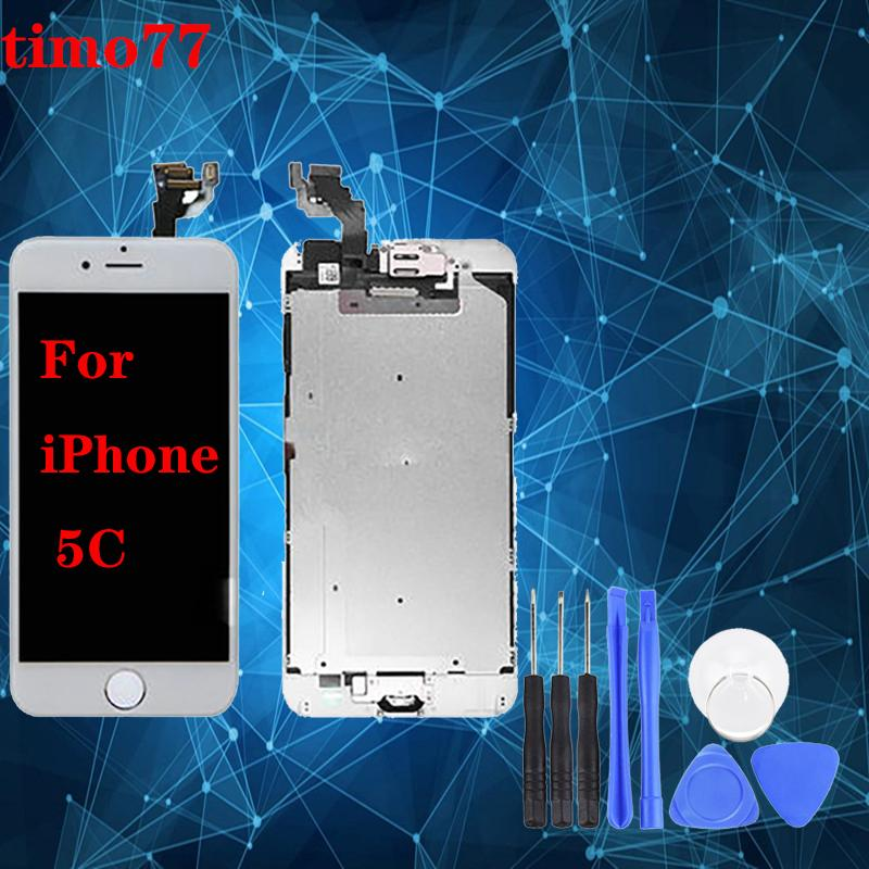 High Quality For iPhone 5 5G 5C 5S Black & White LCD Display With Touch Screen Digitizer & Free DHL Shipping