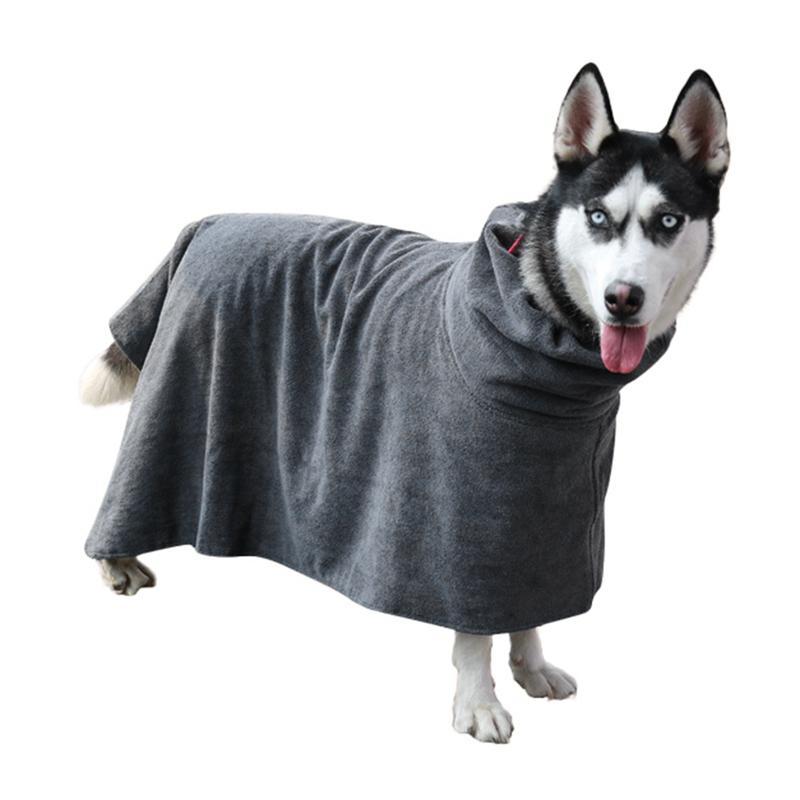 Chien Peignoir Pet sèche-serviettes chien Serviette de bain Pour Petit Moyen Gros Chiens de Microfibre superabsorbants Cape Serviettes de bain