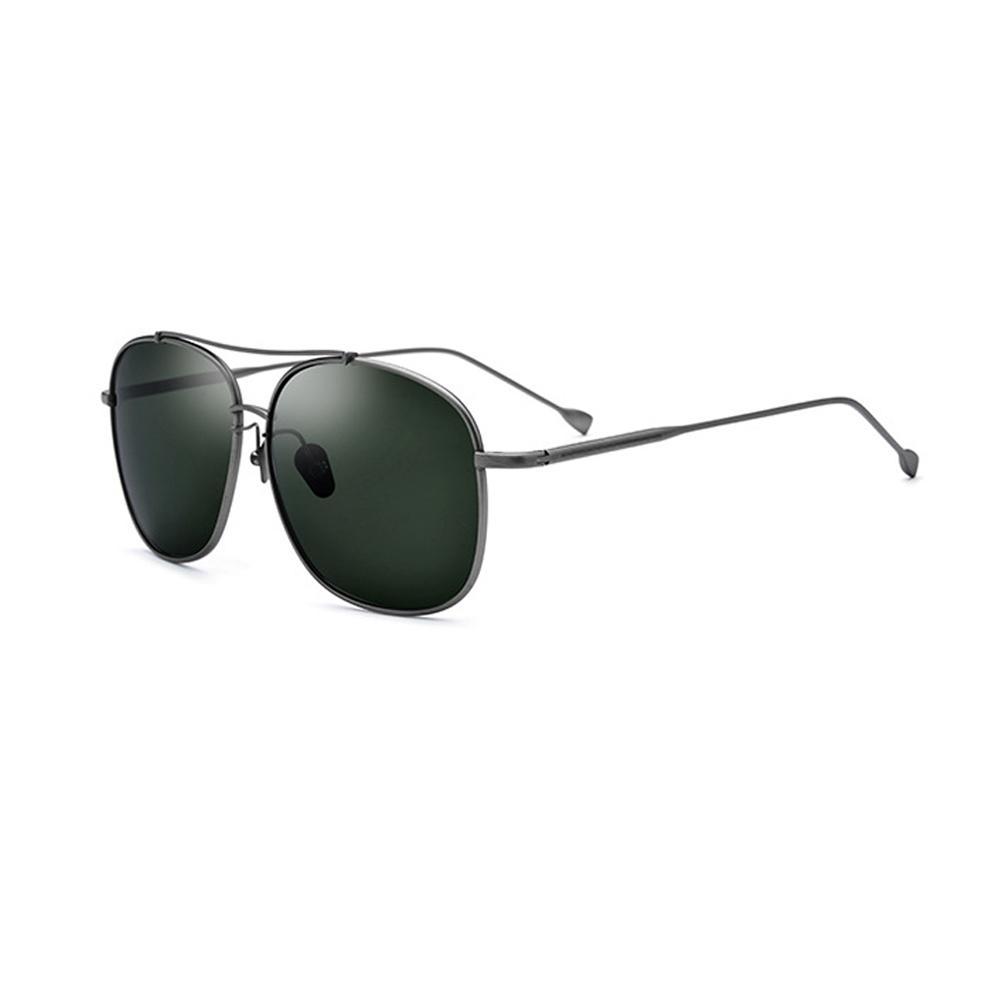Lente del marco de los hombres gafas de sol polarizadas de metal Negro Oro / / verde de gran tamaño de conducción de los vidrios para los hombres con la caja MX200619