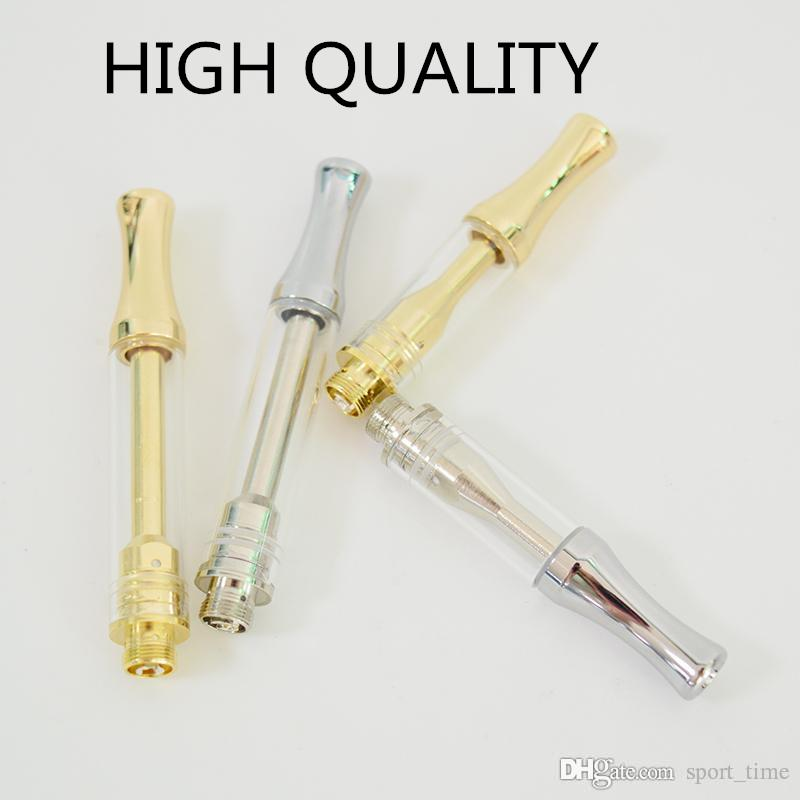 Nuovo Vape Pen Cartucce Carts ceramica Serbatoi Coil Vape 0,5 ml 1,0 ml Oro Argento vaporizzatore cartucce Penna per Thick Oil