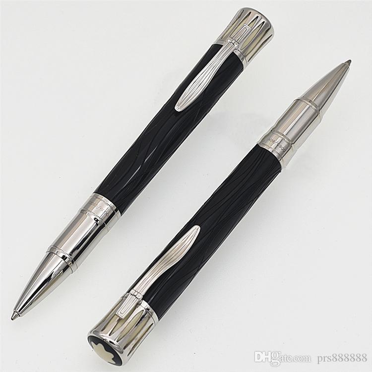 ترف MARK TWAIN الأسود قلم حبر جاف المدرسة واللوازم المكتبية blance العلامة التجارية القلم مع ميغابايت عبوة مصمم الأقلام هدية الأقلام