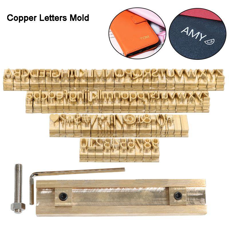 Logotipo personalizado latón alfabeto regalo Prensa Carta Sello Craving Herramienta de Branding Iron Personalidad madera de cuero estampado en caliente