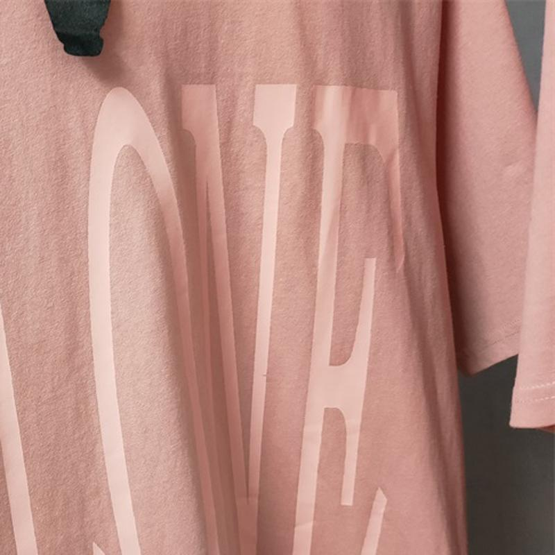 Hip 20SS Hombres Mujeres impresa letra de High Street Classic Camiseta rosada del salto al aire libre Nueva camiseta del estilo respirable del verano de manga corta HFYMTX908