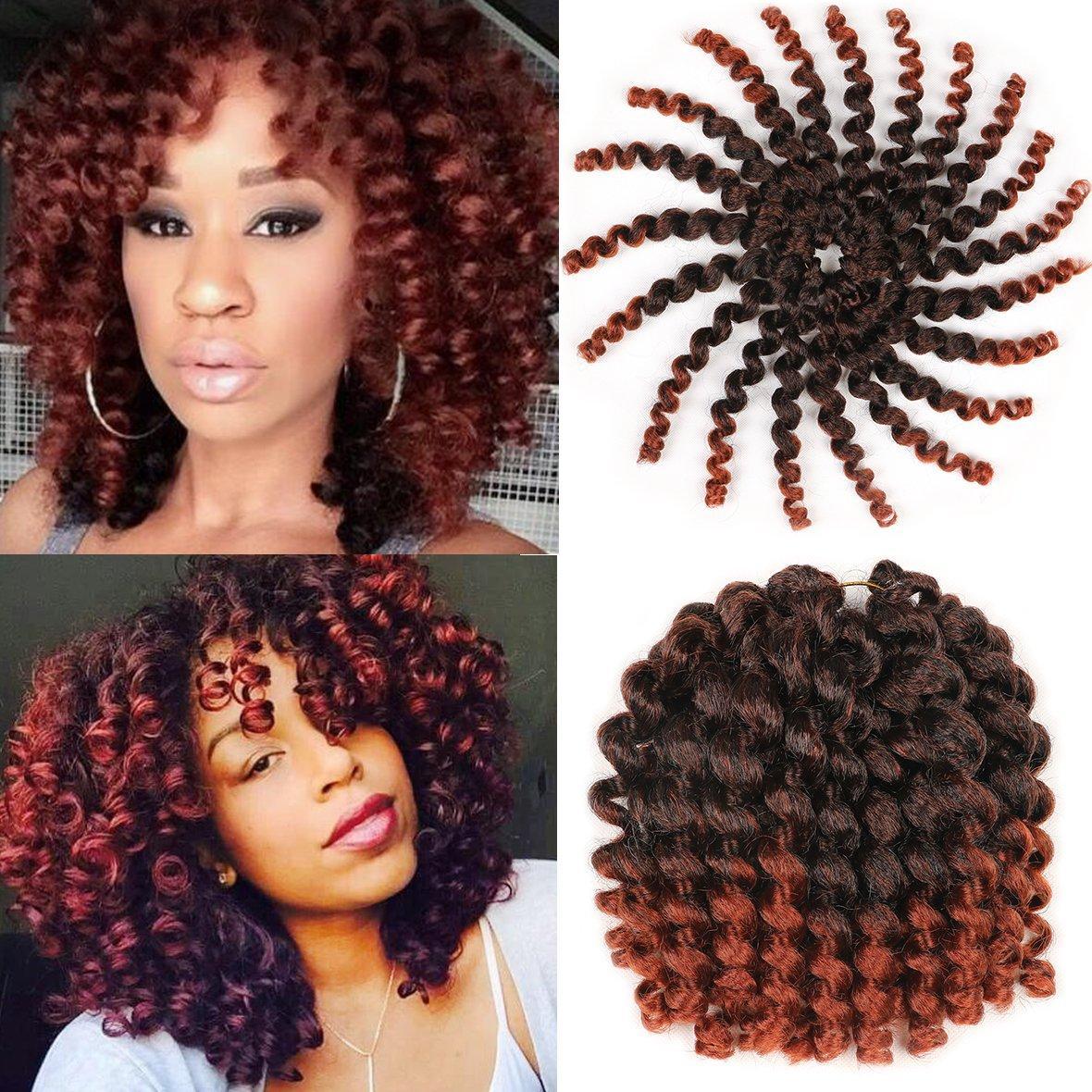 Heiß! 8-Zoll-5Pcs / Lot Jamaican Bounce afrikanische Sammlung Crochet Flechthaar Wand Curly Geflechte Synthetic-Torsion-Haar (5pcs / lot, T350 #)