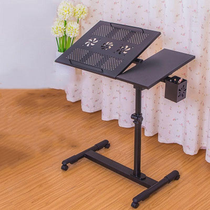 Fashion Modern Simple Home Laptop-Tabellen-Bett Lernen Schreibtisch Bodenständer Radgreiferanlagen Laptop-Tisch neben Schlafsofa