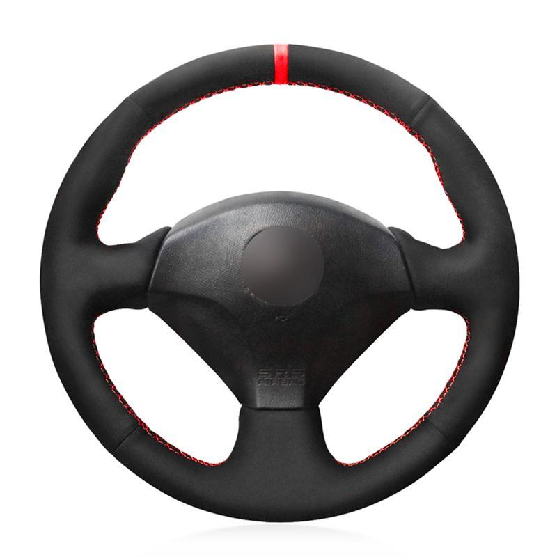 Рулевое управление черный замша красный маркер синий Маркер колеса автомобиля Обложка для Honda S2000 2000-2008 Civic Si 2002-2004 Acura RSX Type-S 2005