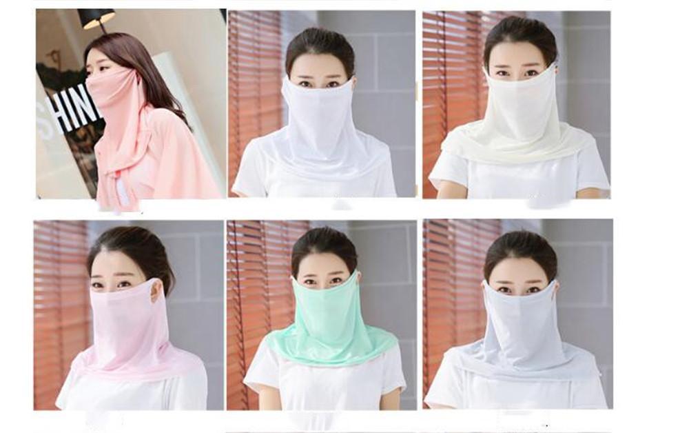 Femmes Foulard Masque en mousseline de soie à imprimé floral double couche pare-soleil Masques bouche multifonction pour l'extérieur Cyclisme Foulard