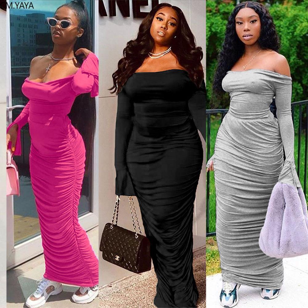 2019 가을 여성 전체 플레어 슬리브 등이없는 목 bodycon 긴 맥시 드레스 나이트 클럽 파티 2 개 PCS 드레스가 GLG4661 T200522을 vestido 슬래시