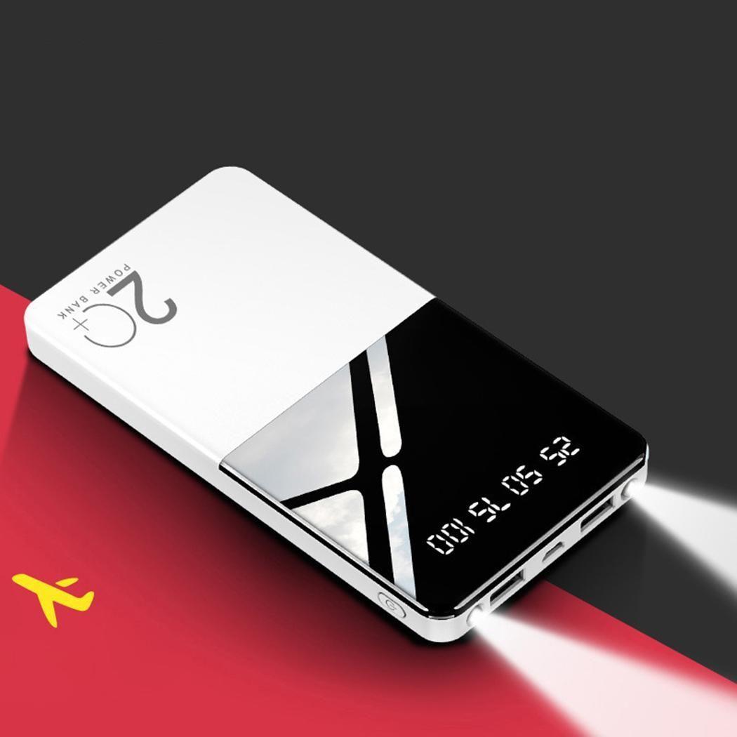 Display ultrasottile Banca di potere del telefono 20000mAh digitale domestico portatile, casual caricabatterie micro DC5V2A