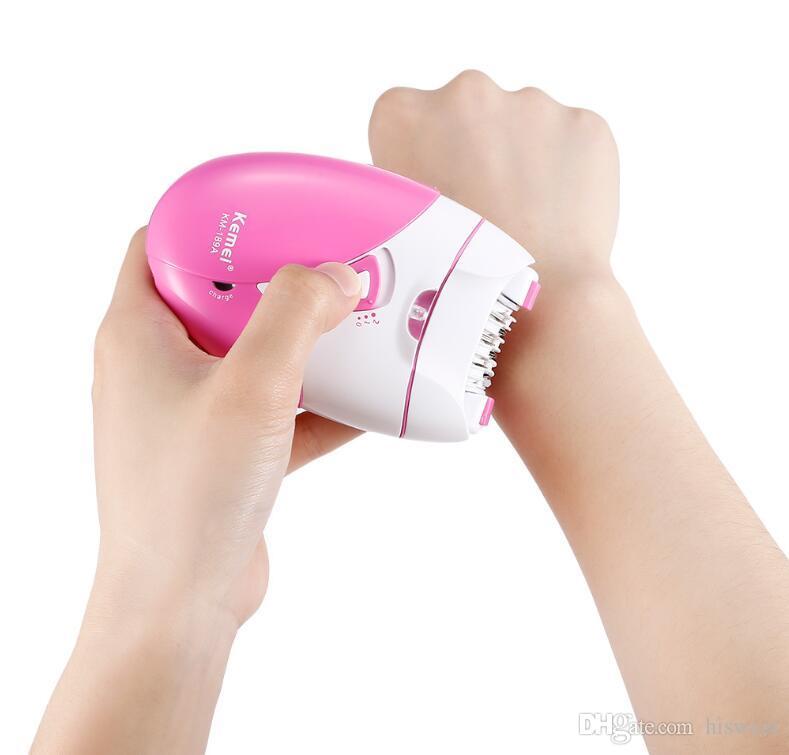 Remoção recarregável elétrica Depilador Mulher Cabelo Cordless Depilator Shaver corpo Leg Shaving Aparelho Depilação máquina com alta qualidade