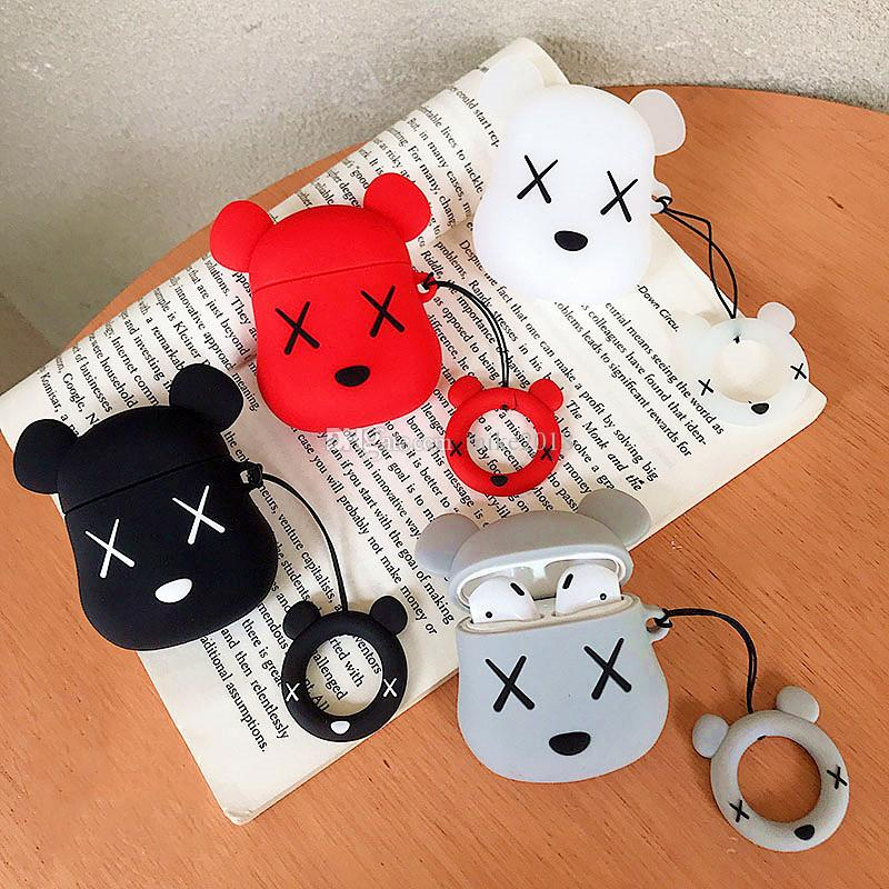2020 Cartoon Bear Earphone Case For Airpods 1 Cover Protective