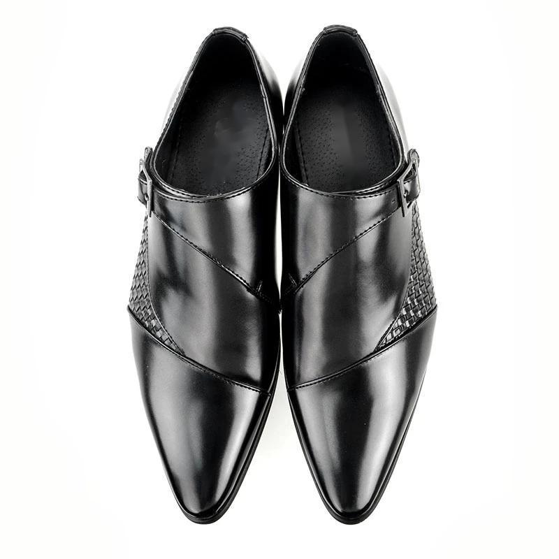 Erkek Deri Ayakkabı Düşük Topuk Günlük Ayakkabılar Elbise Brogue İlkbahar Bilek Boots Vintage Klasik Erkek Casual PS563