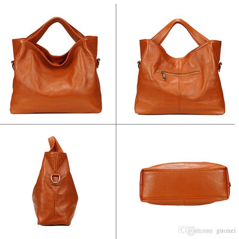 Designer-100% Cow Messenger Leather New Women Handbag Brand Soft Genuine Women's Shoulder Bags For 2019 Qsfut